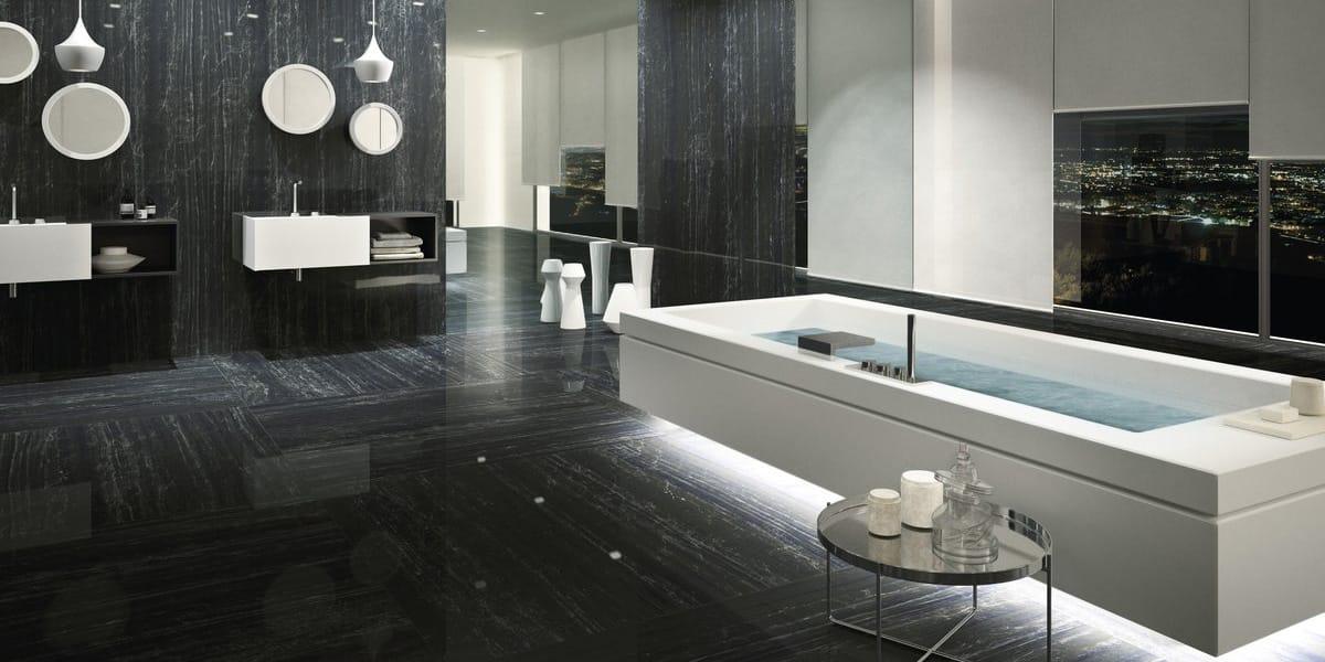 feinsteinzeugfliesen schwarz nero supremo marmi maximum. Black Bedroom Furniture Sets. Home Design Ideas