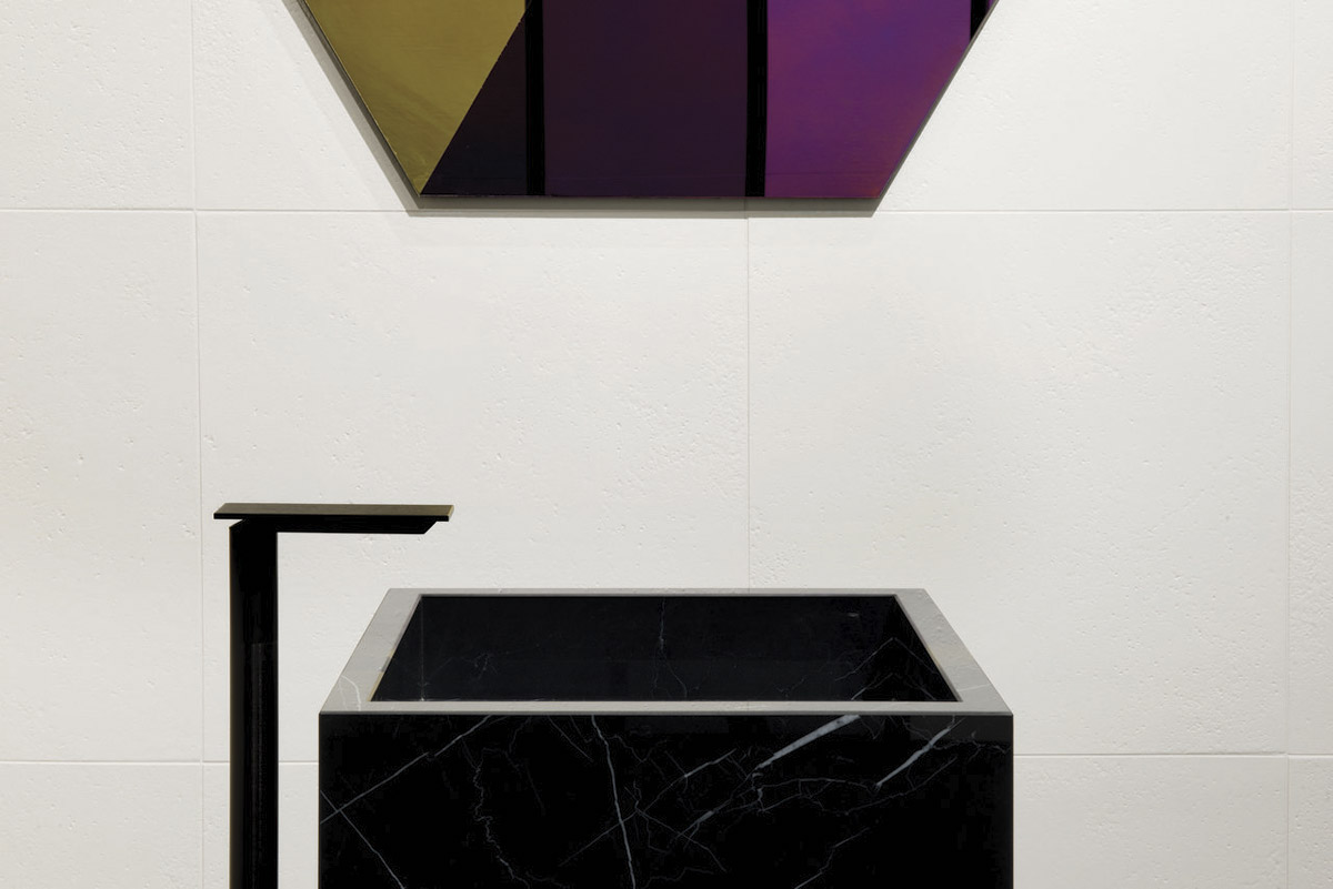 Black sink design fab architectural bureau castellarano italien